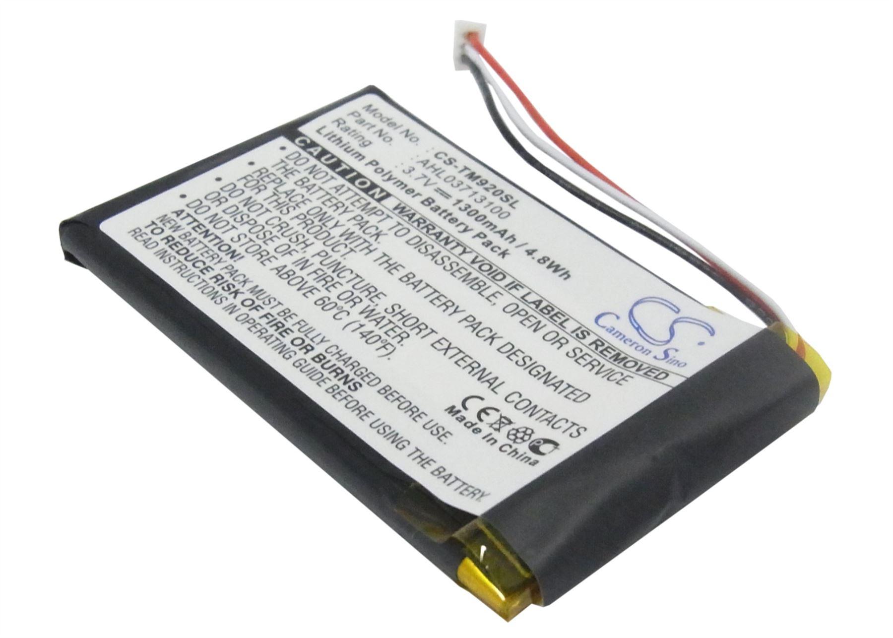 CSTM730SL Go 530 Go 520 1300mAh, 3.7V, Lithium -Ion - Also Replaces Go 730 Go 930 Go 930T Go 630 1697461 TomTom Go 720 Battery with Tools CS-TM730SL Go 730T Replacement for TomTom GPS Batteries Go 530 Live
