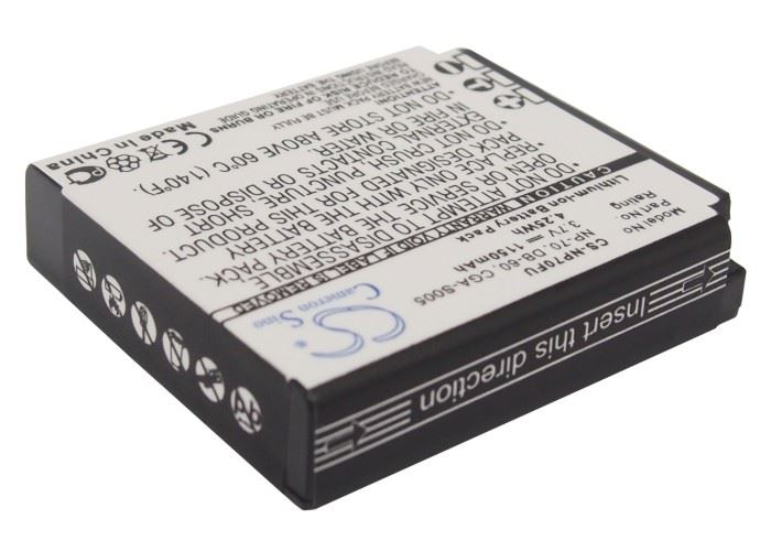 New Battery Pack CE Panasonic CGA-S005E 1150 mAh 3.7-Volts Li-ion