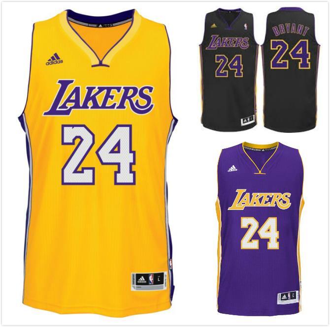 #24 LA Lakers Kobe Bryant Basketball Jersey Chicago Bulls Swingman Stitched UK