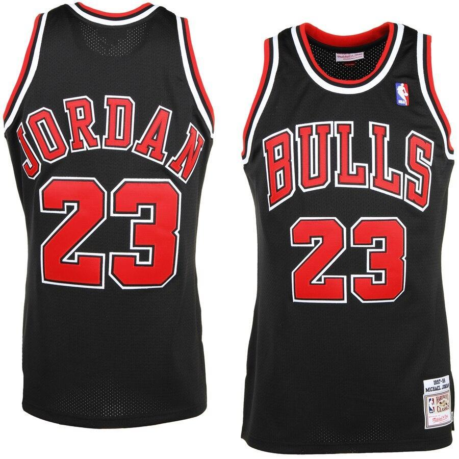 MICHAEL-JORDAN-CHICAGO-BULLS-23-BLACK-NBA-Basketball-SWINGMAN-JERSEY-Shirt miniature 14