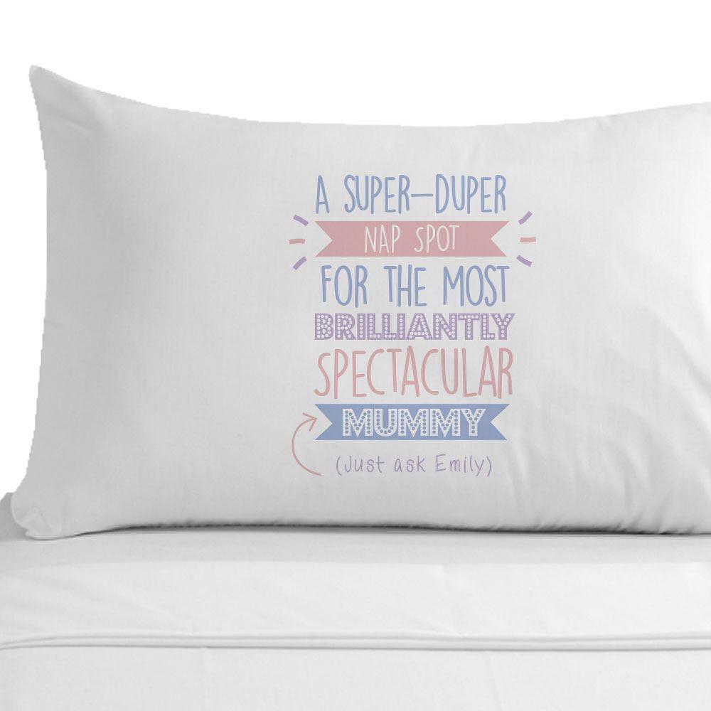 Personalised Super Mum Pillowcase Mummy Gift Ideas Mothers Day ...
