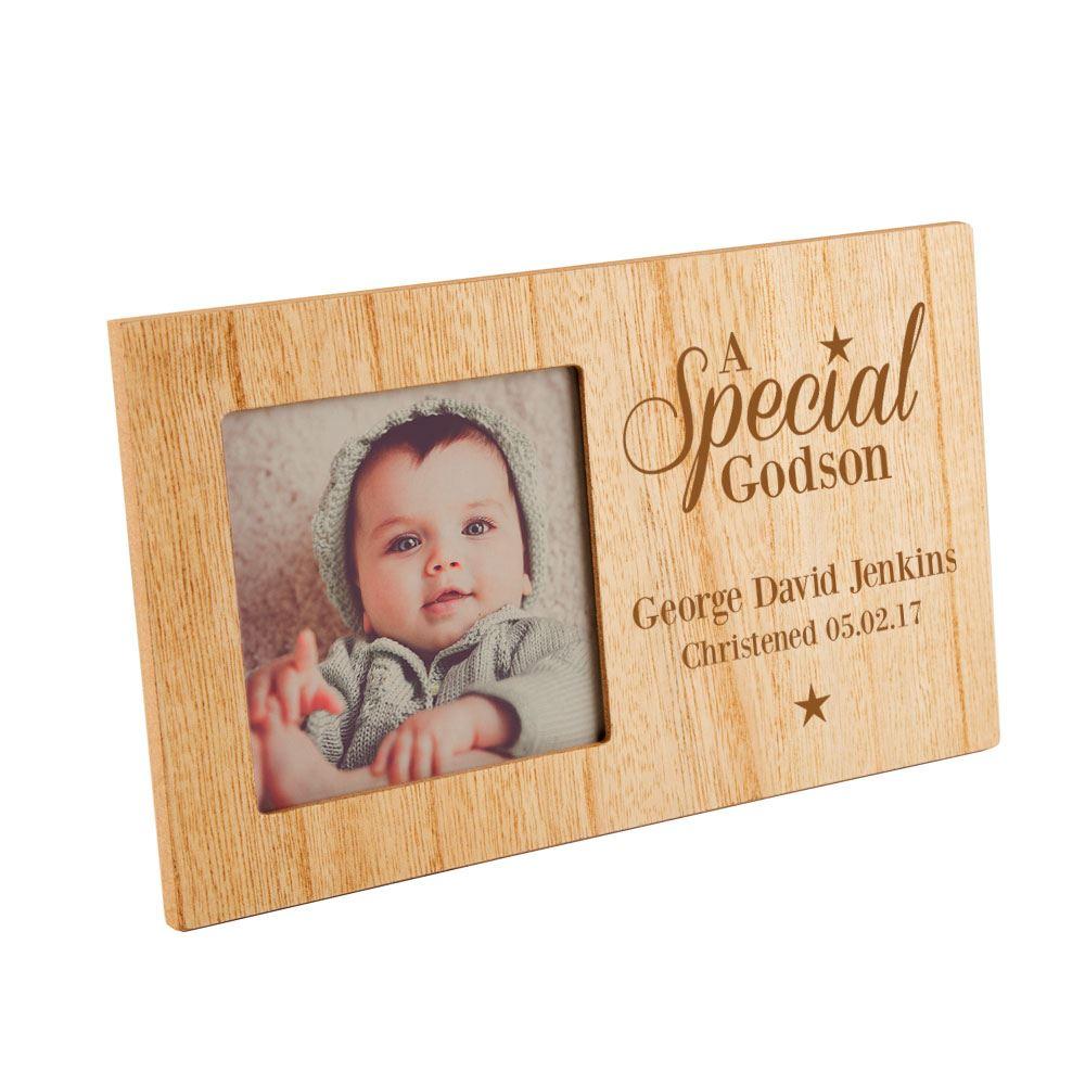 Personalised Engraved Special Godson Photo Frame, Boy\'s Keepsake ...