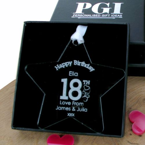 Engraved 18th Birthday Ideas Male Female Gift Box