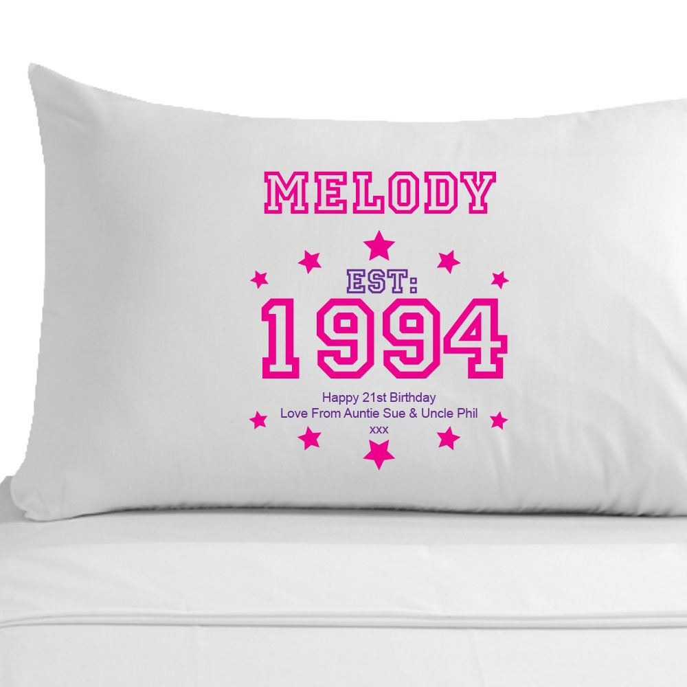 Personalised 21st Birthday Pillowcase Best Friend Sister Girl Gift Ideas