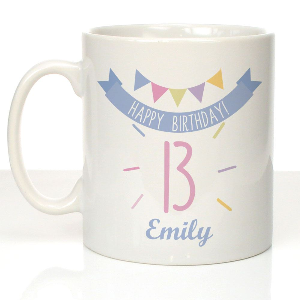 Personalised Girls 13th Birthday Mug Teenager Daughter Sister Niece Gift Ideas