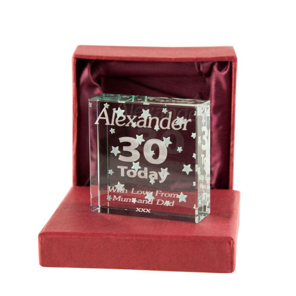 30th Birthday Keepsake Jade Block For A Man, 30th Birthday Gifts For Men. 643415766750