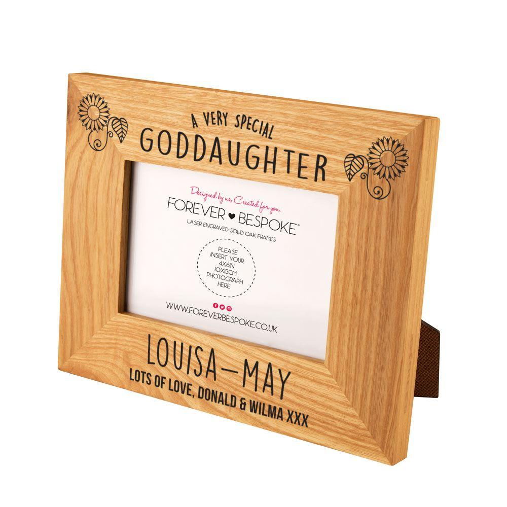 Personalised Engraved God Daughter Oak Frame, Traditional ...