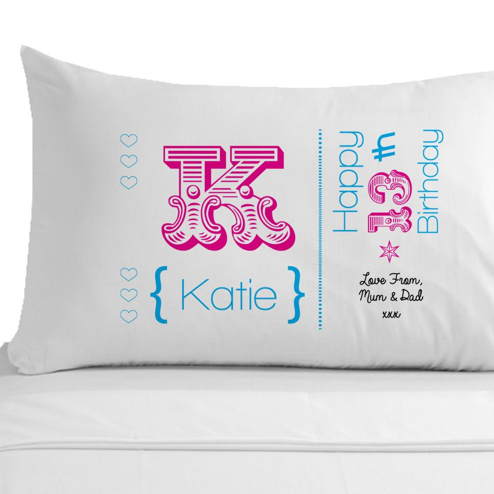 Womens Personalised 60th Birthday Pillowcase, Unique 60th