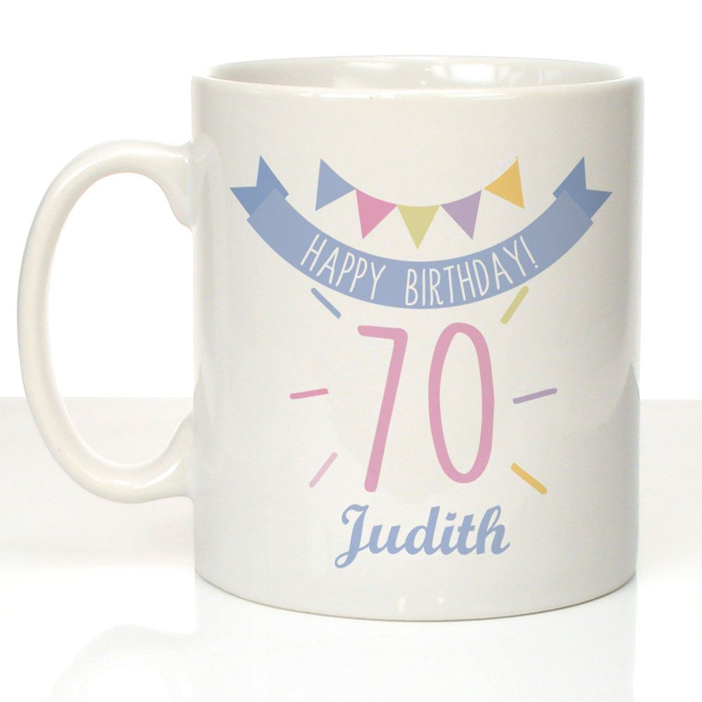 Details About Personalised 70th Birthday Mug For Her Female Gran Auntie 70 Keepsake Gifts