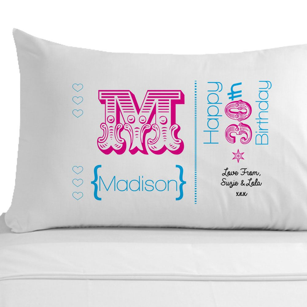 Womens Personalised 60th Birthday Pillowcase, Unique 60th Birthday Gift Ideas
