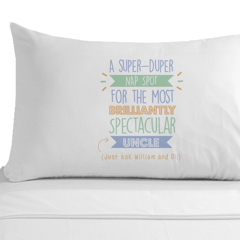 Details About Personalised Super Uncle Pillowcase Birthday Christmas Gift Ideas Home Decor
