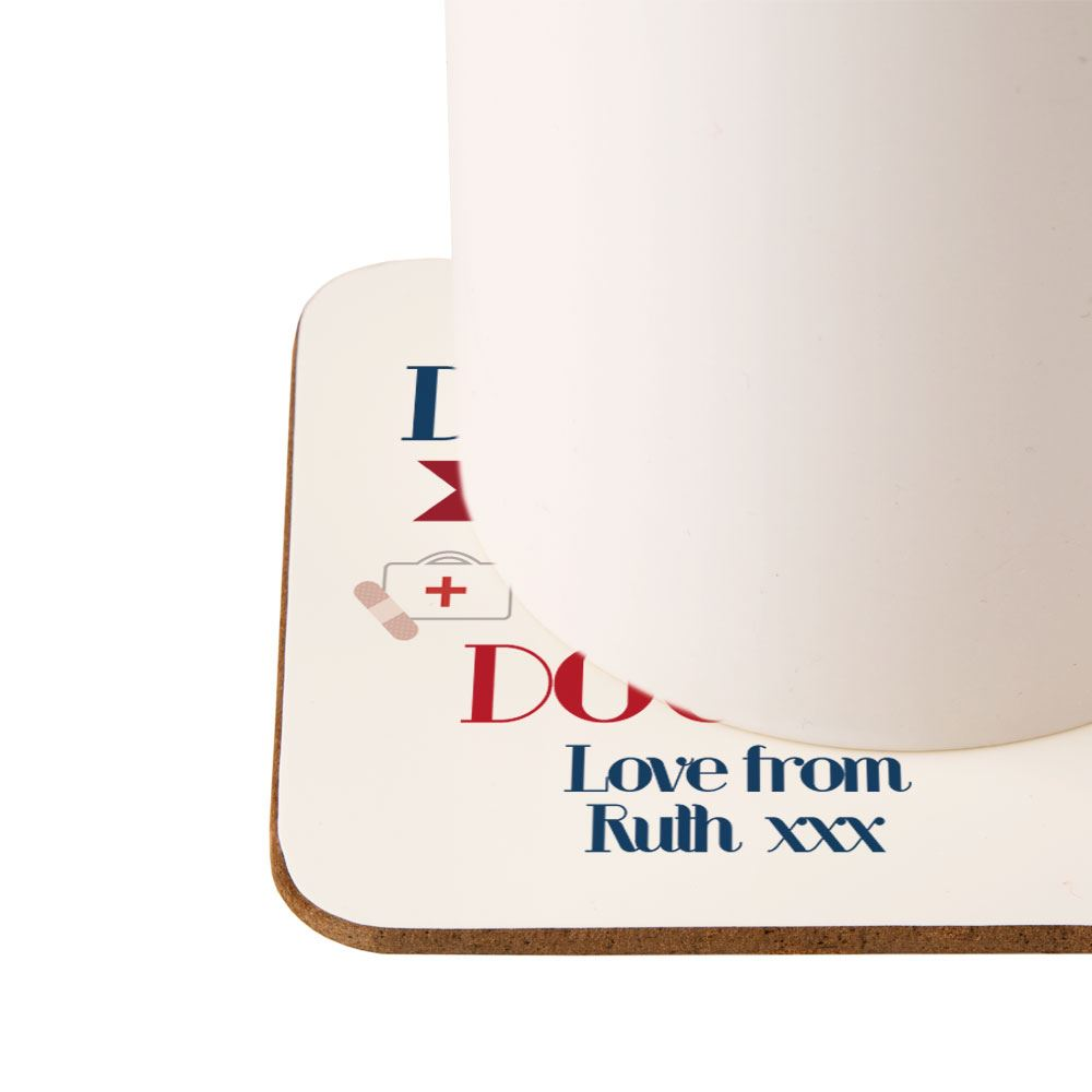 Personalised World's Best Doctor Drinks Coaster, Medical Themed Gifts