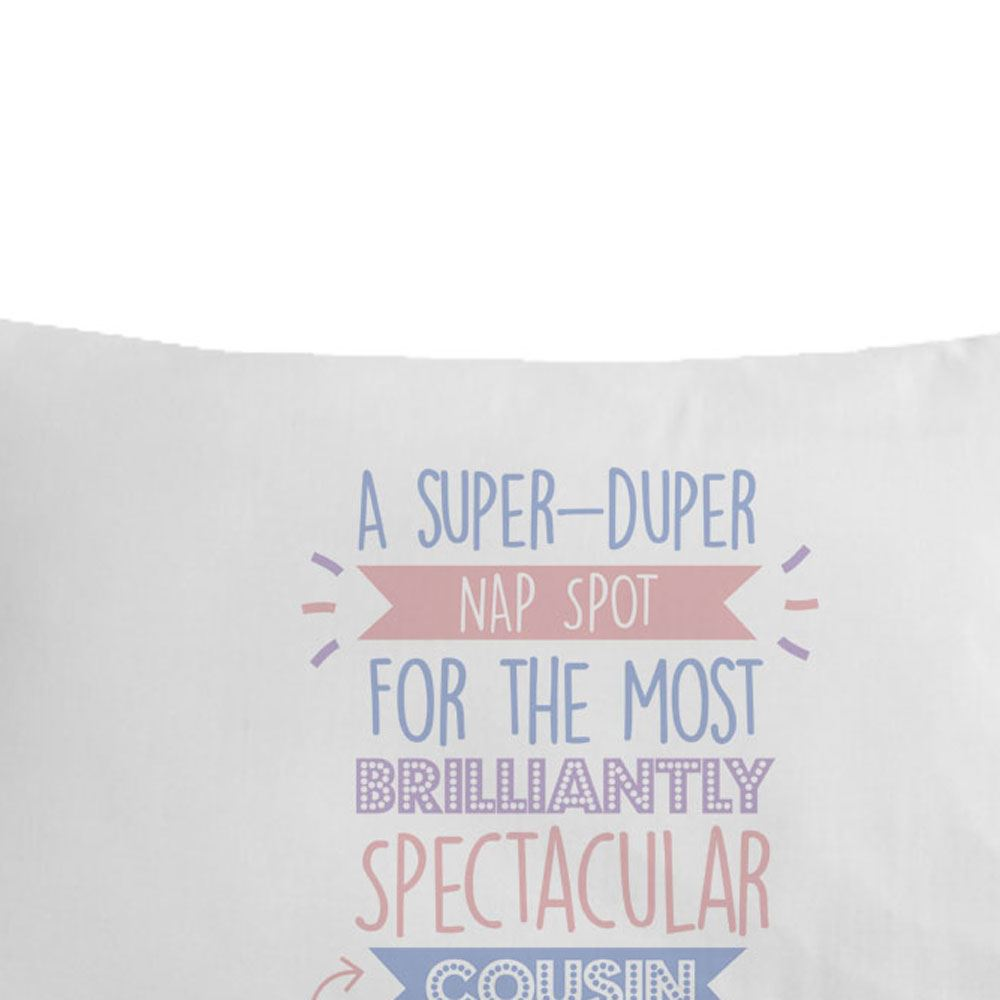 Personalised Super Cousin Pillowcase Female Her Home Decor Birthday Gift Ideas