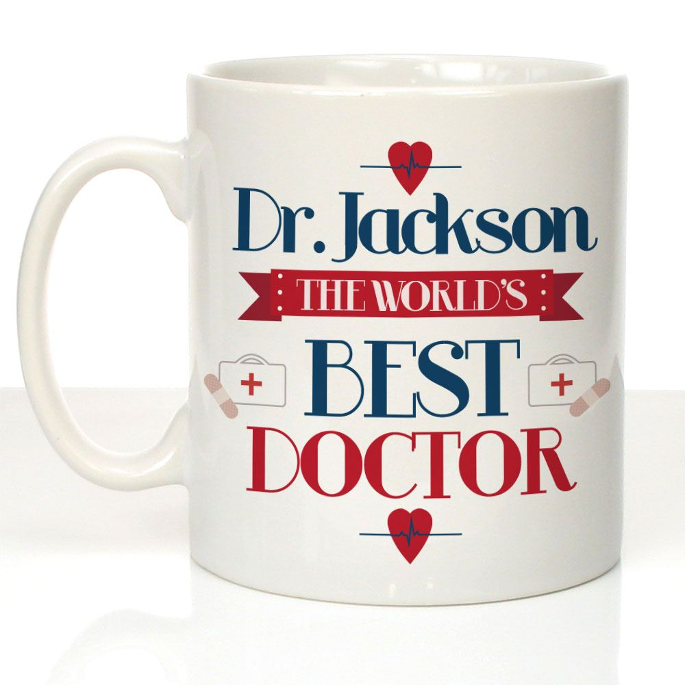 Personalised World's Best Doctor Mug Surgery Female Male Thank You ...
