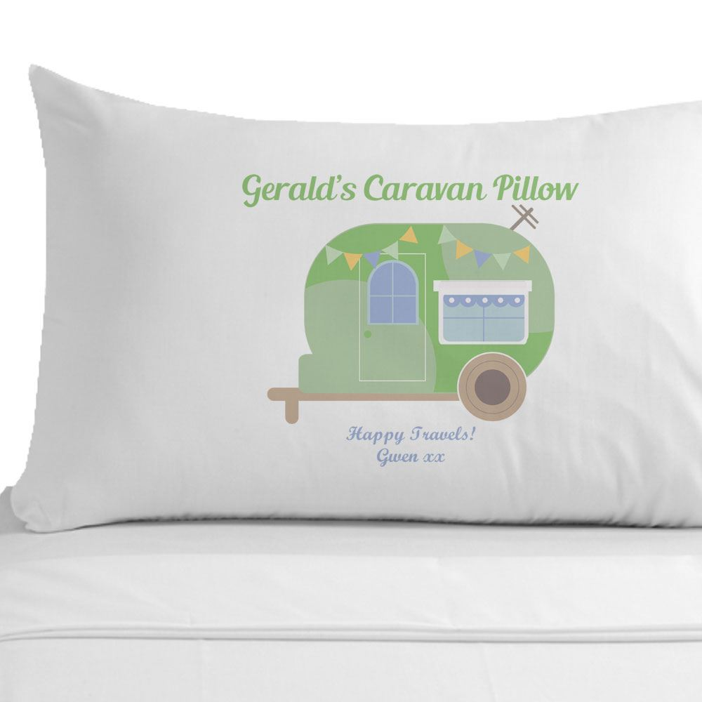 Personalised Caravan Pillowcase Travel Gifts Holiday Gift Ideas for ...