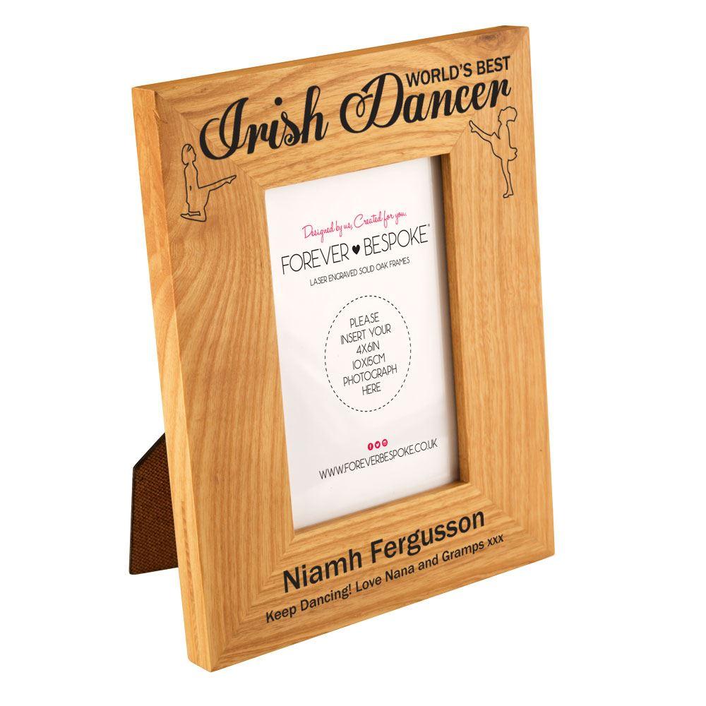 Details about Personalised World\'s Best Irish Dancer Oak Frame, Girl\'s Dancing Keepsake Gifts