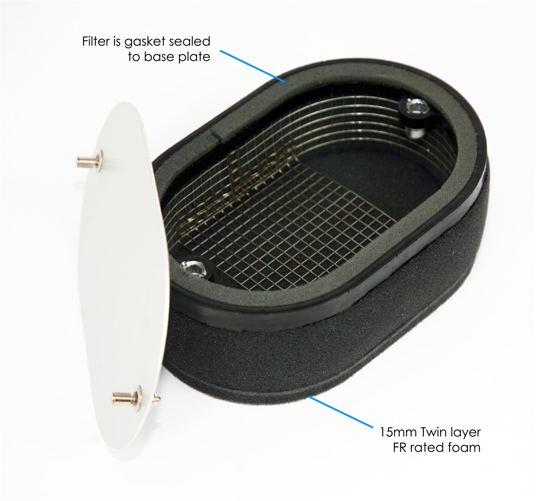 RAMAIR Carb Air Filters With Baseplate Weber 3B DGAS//DGMS 65mm Bolt On