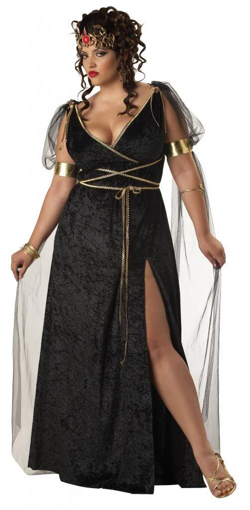 Medusa Greek Goddess Plus Size Fancy Dress Costume Adult Ladies