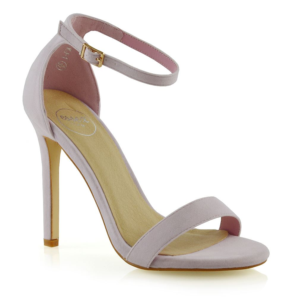 82cf0967db0e Womens Stiletto High Heel Ankle Strap Sandals Ladies Peep Toe Party Prom  Shoes