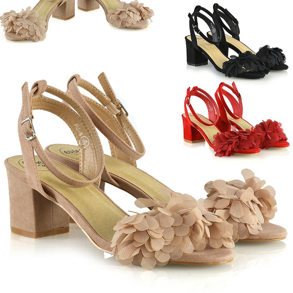 80640cbed3d Details about Womens Ankle Strap Low Block Heel Sandals Ladies Fringe Shoes  Size 3-8