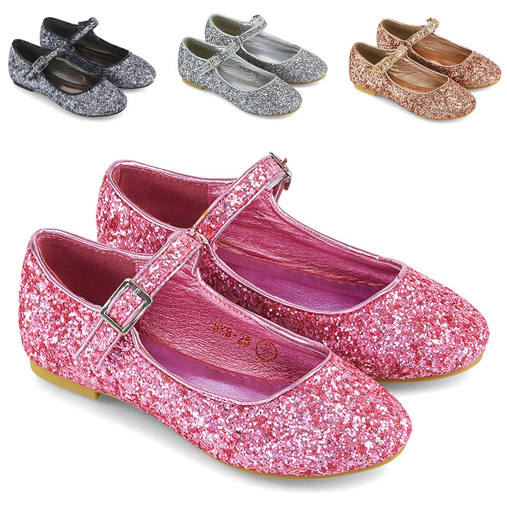 NEW GIRLS CHILDRENS FLAT LOW HEEL LOAFERS BALLERINA DOLLY PUMPS SHOES SIZE PARTY