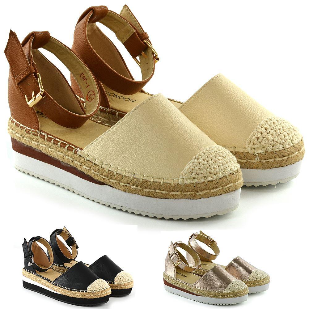 Details about New Womens Mid Low Wedge Platforms Ladies Espadrilles Summer Sandals Shoes Size