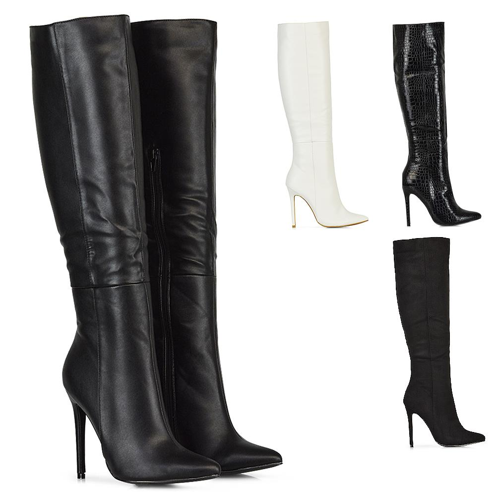 New Womens Knee High Boots Mid High
