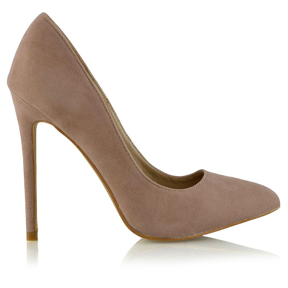 Womens High Heel Stiletto Pointed Essex Glam Ladies Clubbing Court Shoes 302-19