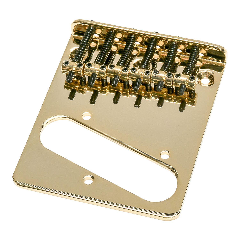 telecaster electric guitar bridge with 6 vintage saddles matching screws ebay. Black Bedroom Furniture Sets. Home Design Ideas