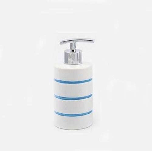 BLUE STRIPE NAUTICA BATHROOM ACCESSORY SET SOAP DISPENSER