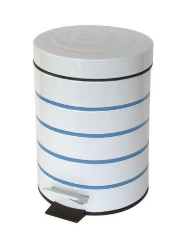 Blue Bathroom Set: NAUTICA BLUE STRIPE BATHROOM ACCESSORY SET SOAP DISPENSER
