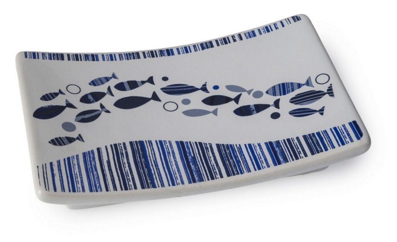 BLUE CANYON ACQUA BATHROOM ACCESSORIES SET WHITE / BLUE SHOWER BATH ...