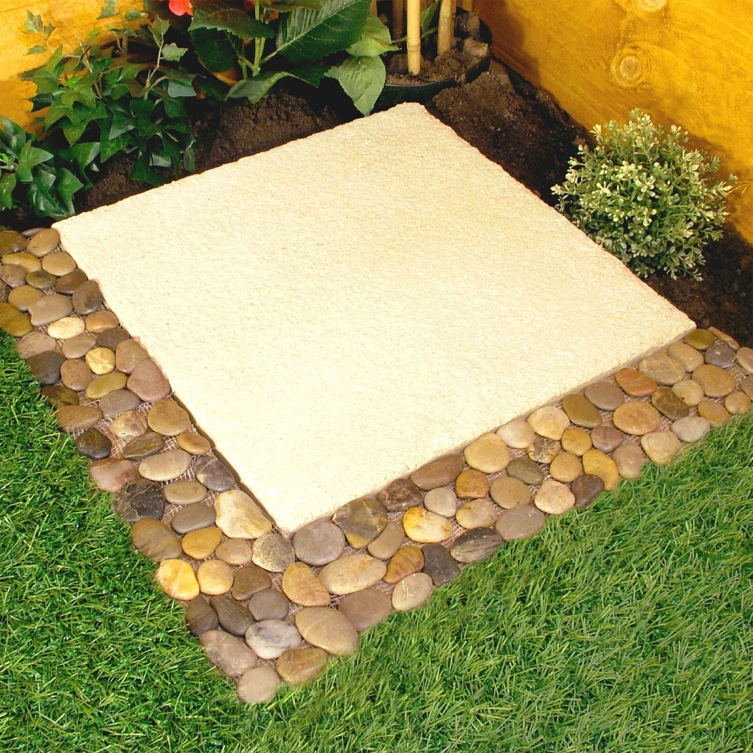 4 X Parkland Pebble Border Stone Garden Lawn Edging Strips Wall
