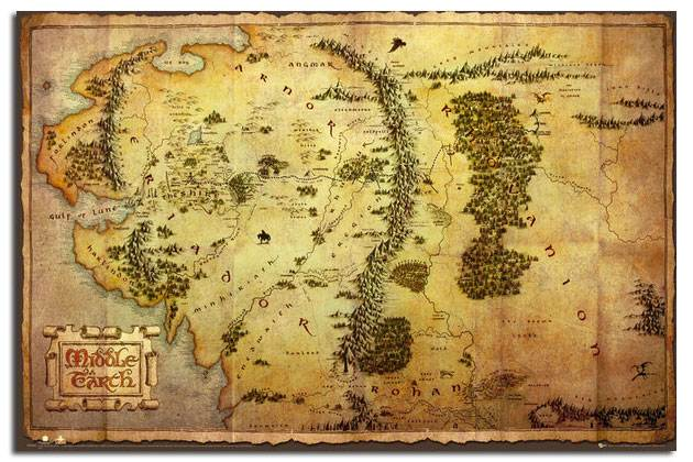 The-Hobbit-Movie-Map-Large-Poster-New-Laminated-Available