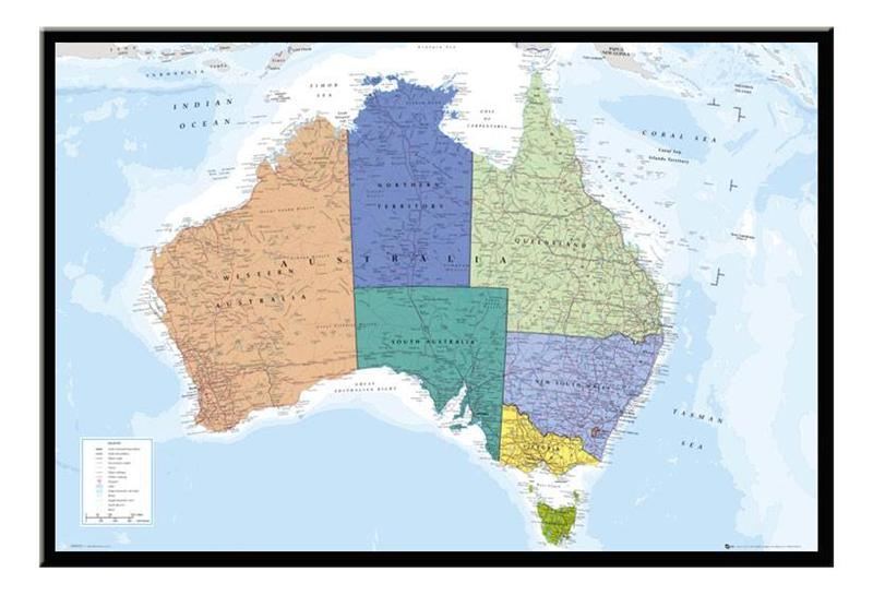 Large australia map magnetic notice board including magnets ebay this functional and decorative magnet notice board makes a great addition to any home or office gumiabroncs Images