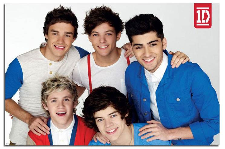 one direction red white blue large wall poster new laminated