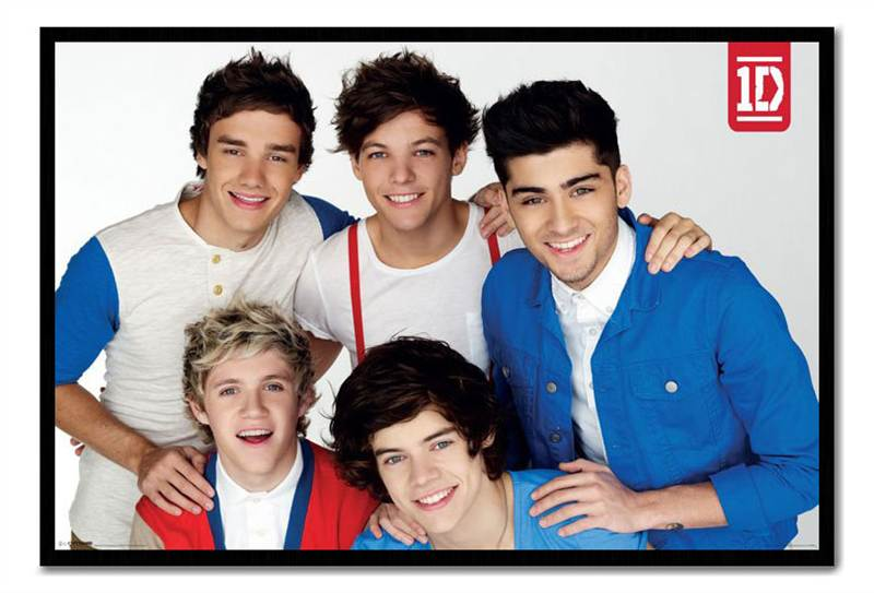 Framed One Direction Red White & Blue Poster Ready To Hang ...