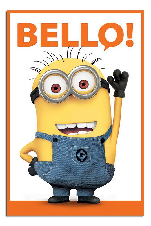 Despicable Me 2 Bello Minions Film Movie Poster New
