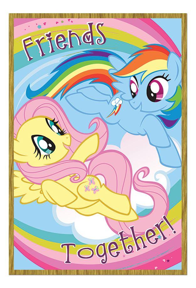 Enmarcado Mi Pequeño Pony Friends juntos póster de la serie de TV | eBay