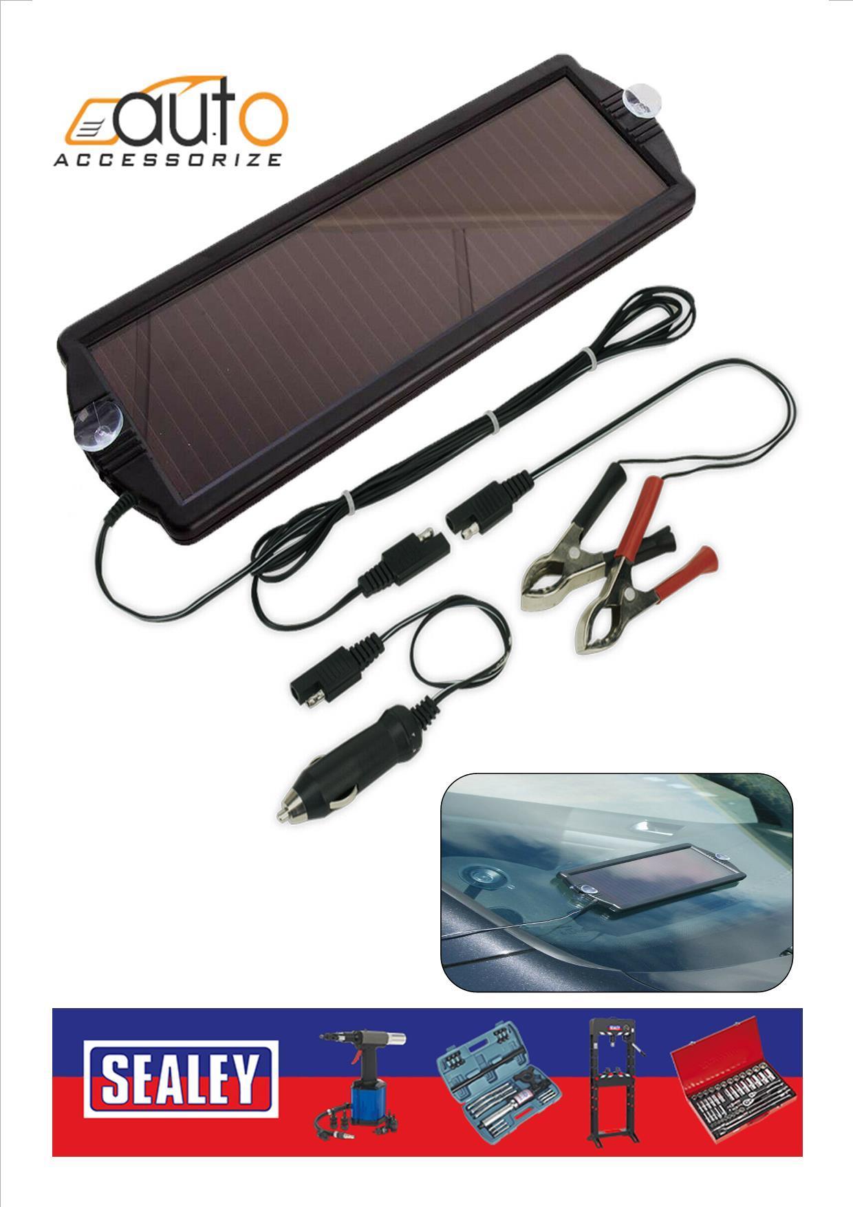 12v Solar Power Trickle Charger Car Van Motorhome Leisure Battery