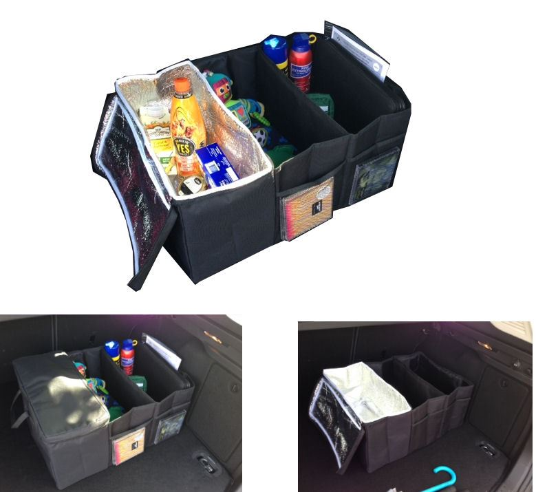 3 In 1 Car Boot Organiser Foldable Shopping Tidy /& Cool Bag With Pockets UK