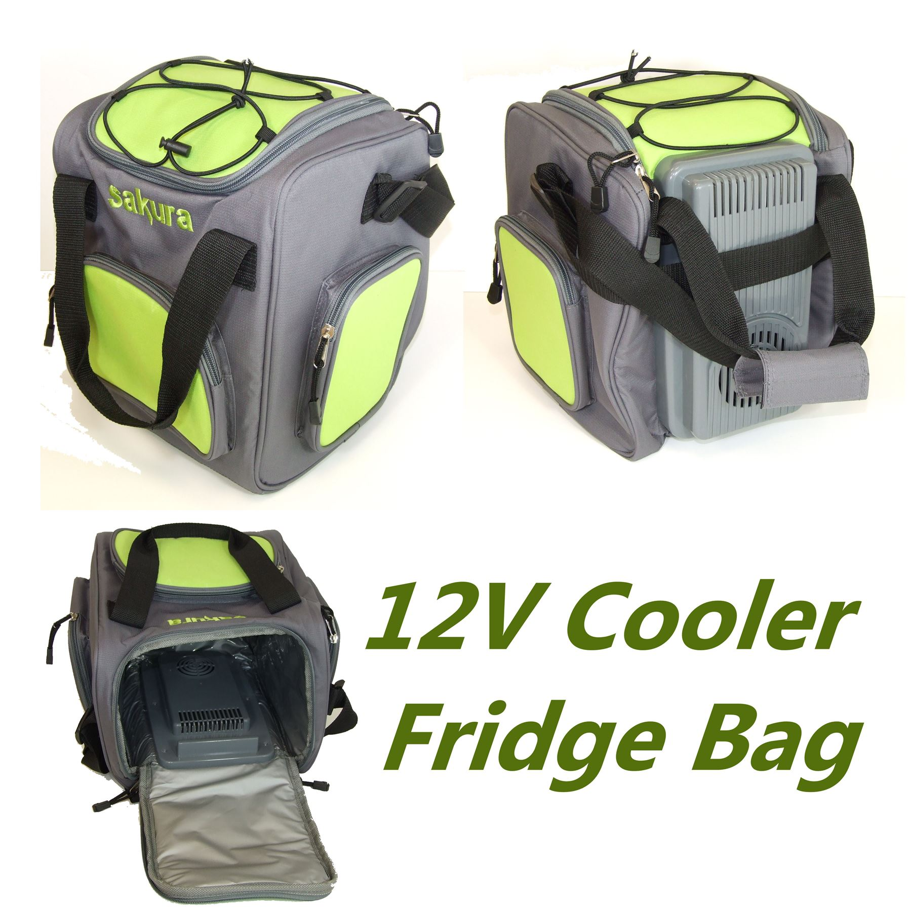 Electric Can Cooler ~ V insulated electric cooler cool bag l food drink