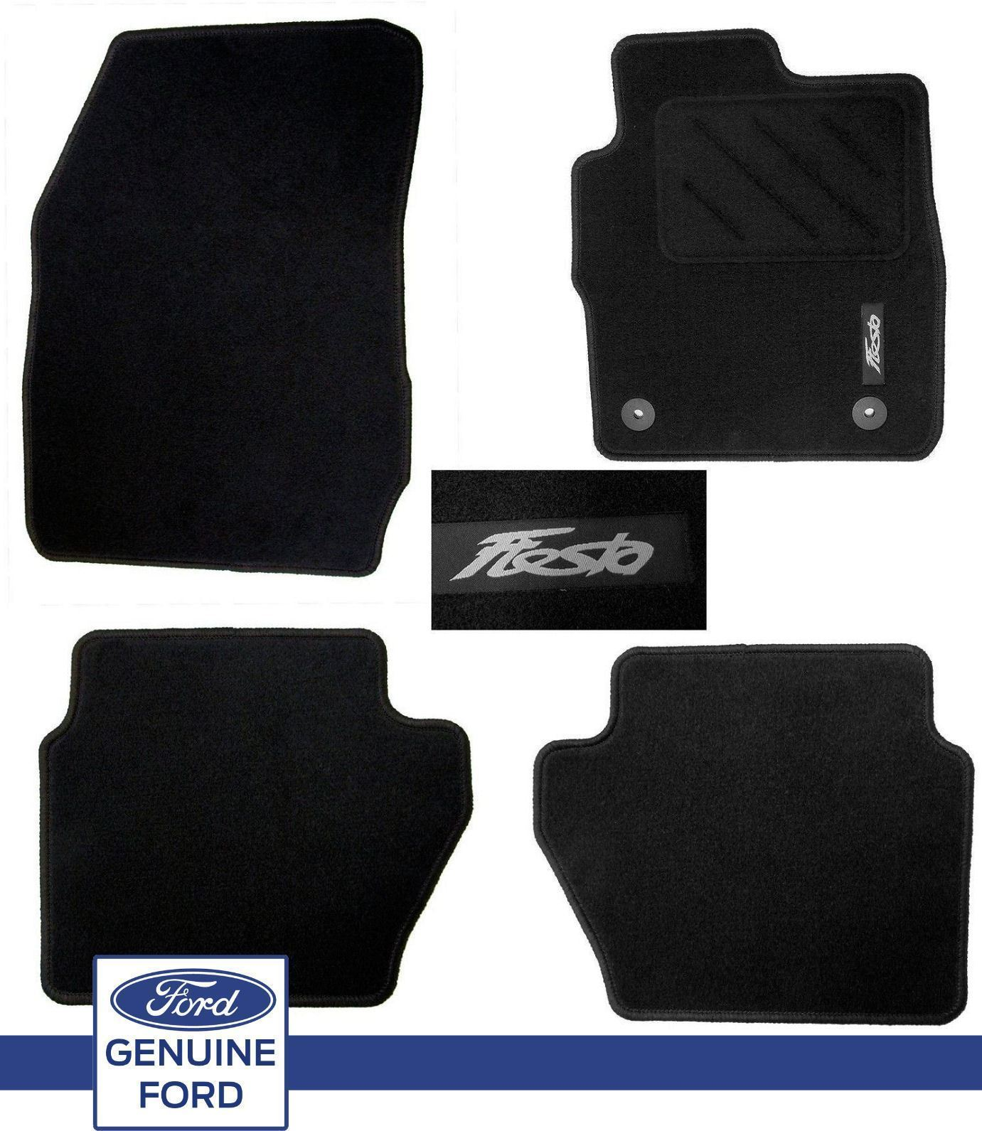 Genuine Ford Fiesta Mk7 2013 On Black Set Mats New Shape Inc ST ST2 Front u0026 Rear | eBay  sc 1 st  eBay & Genuine Ford Fiesta Mk7 2013 On Black Set Mats New Shape Inc ST ... markmcfarlin.com