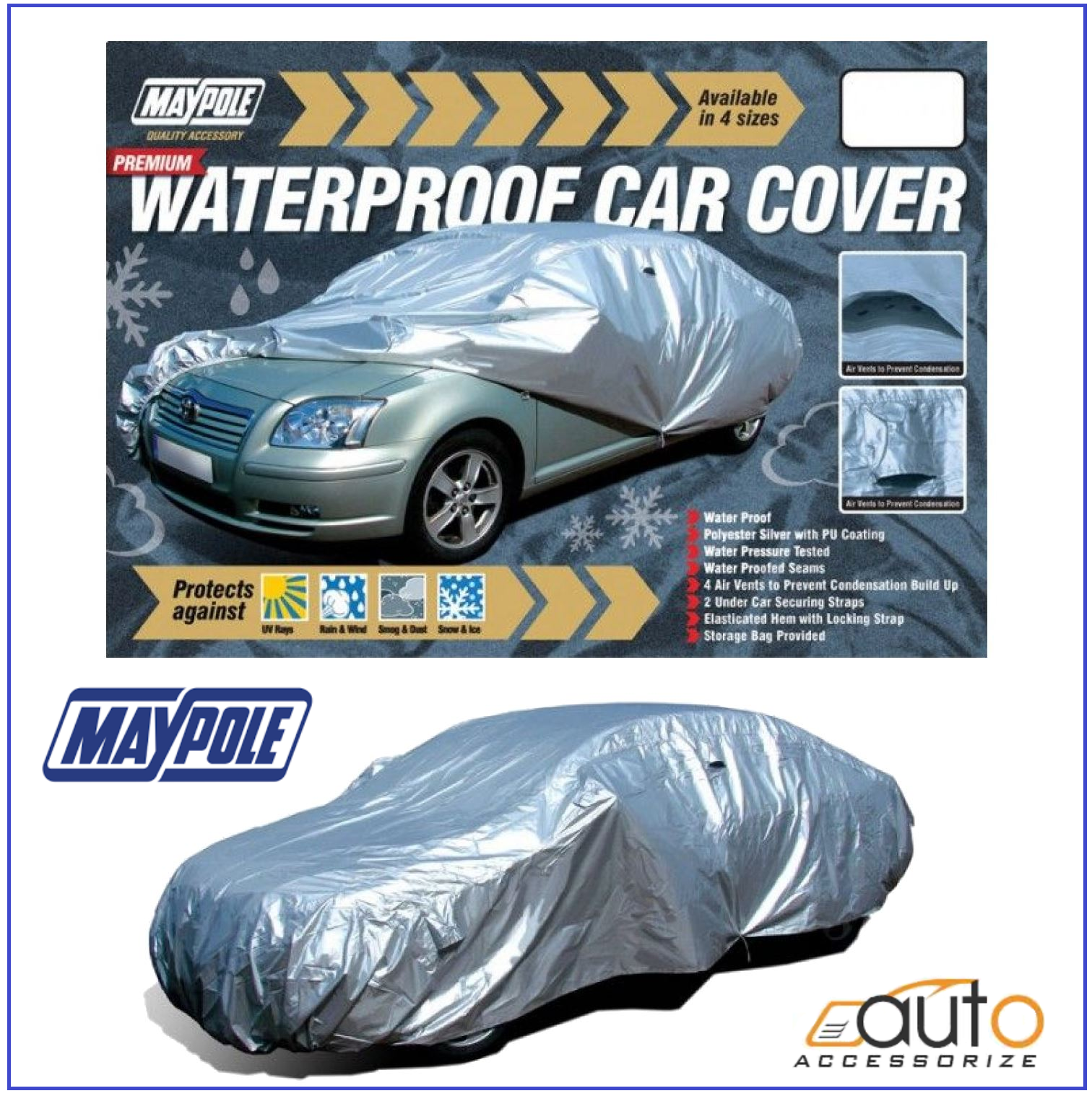 Car Cover Dp Maypole Water Resistant Fits Breathable x.large