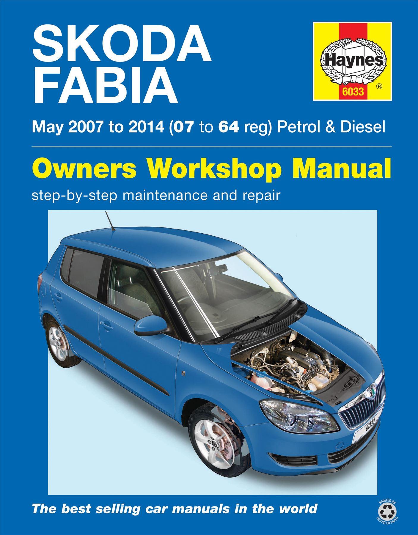haynes skoda fabia petrol diesel may 2007 2014 07 to 64 service rh ebay co uk haynes skoda felicia service and repair manual pdf Skoda Favorit