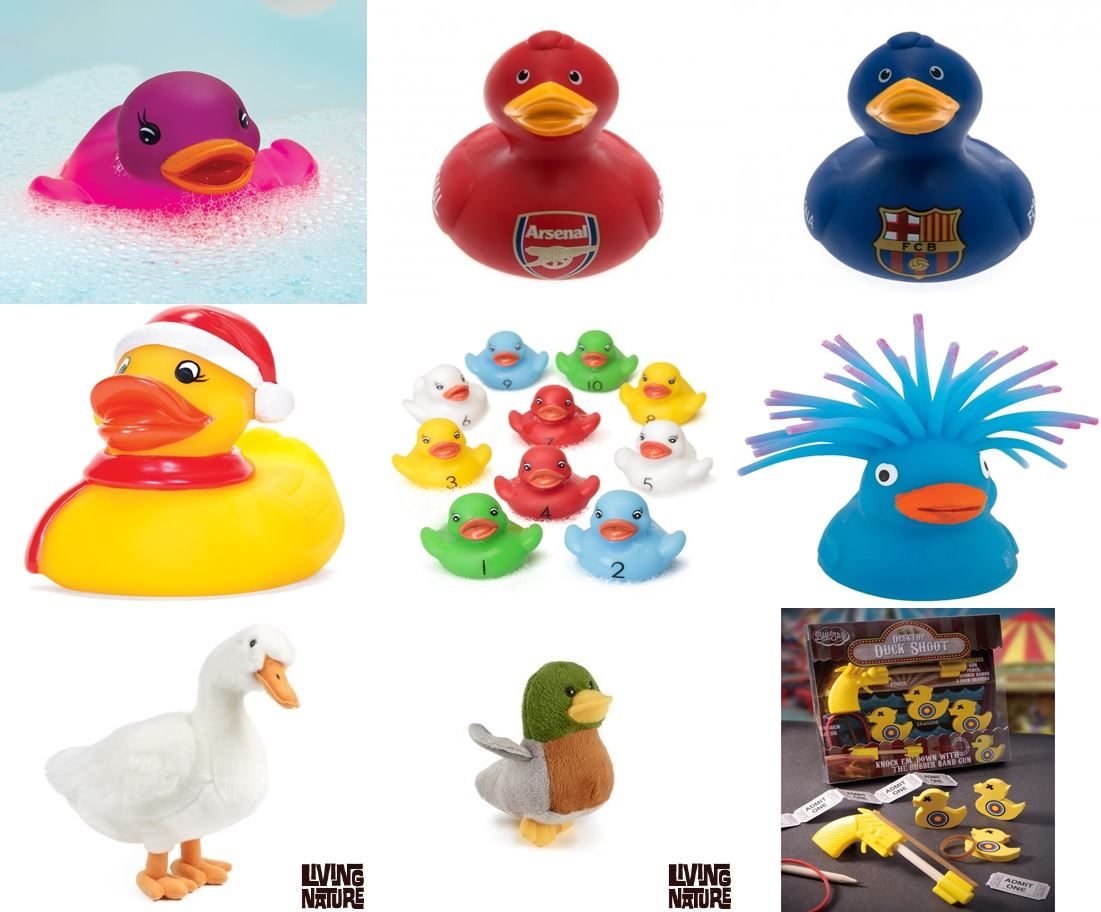 Duck Baby Bathtime Bathing Toys Rubber Race Squeaky Plush Toy (Buy 3 ...