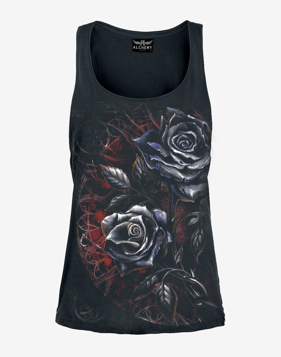 Official-Licensed-Alchemy-Gothic-Dies-Israe-Black-Rose-Grey-Vest-Top