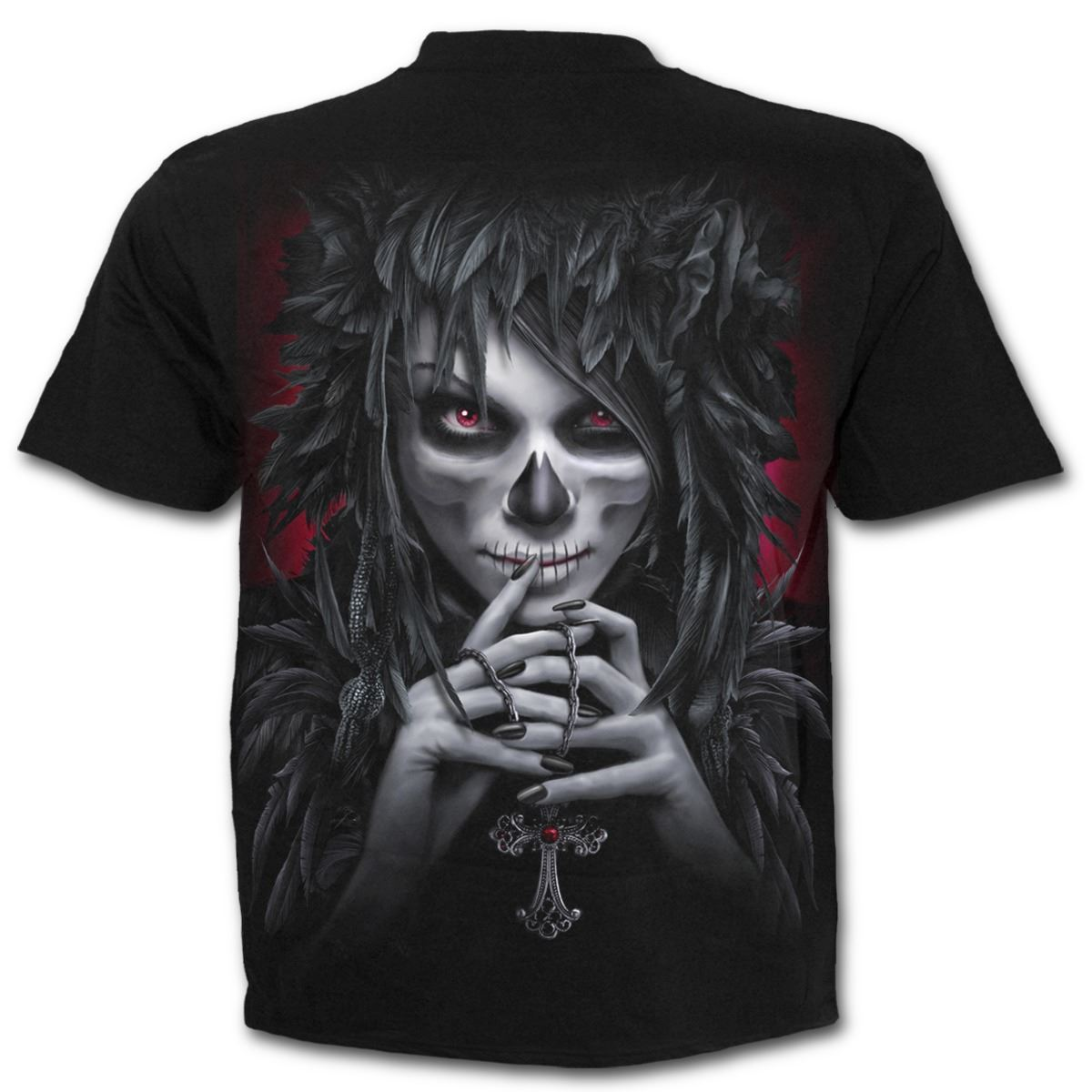 Spiral-Direct-Day-Of-The-Goth-Skeleton-Zombie-Black-Short-Sleeved-T-Shirt thumbnail 8