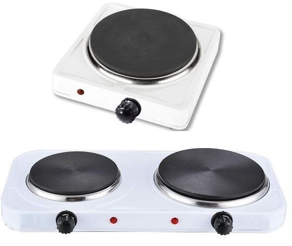 Portable Electric Cooker ~ New single double hotplate cooker portable hob electric