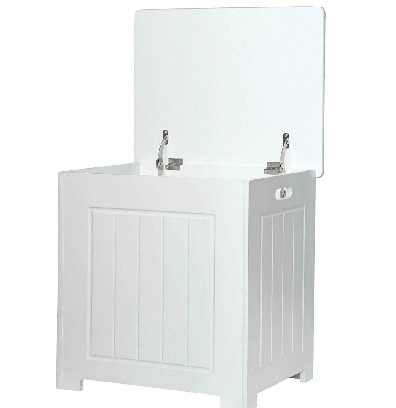 New-White-Wooden-Bathroom-Cabinet-Shelf-Furniture-Cupboard-Bedroom-Storage-Unit miniatuur 14